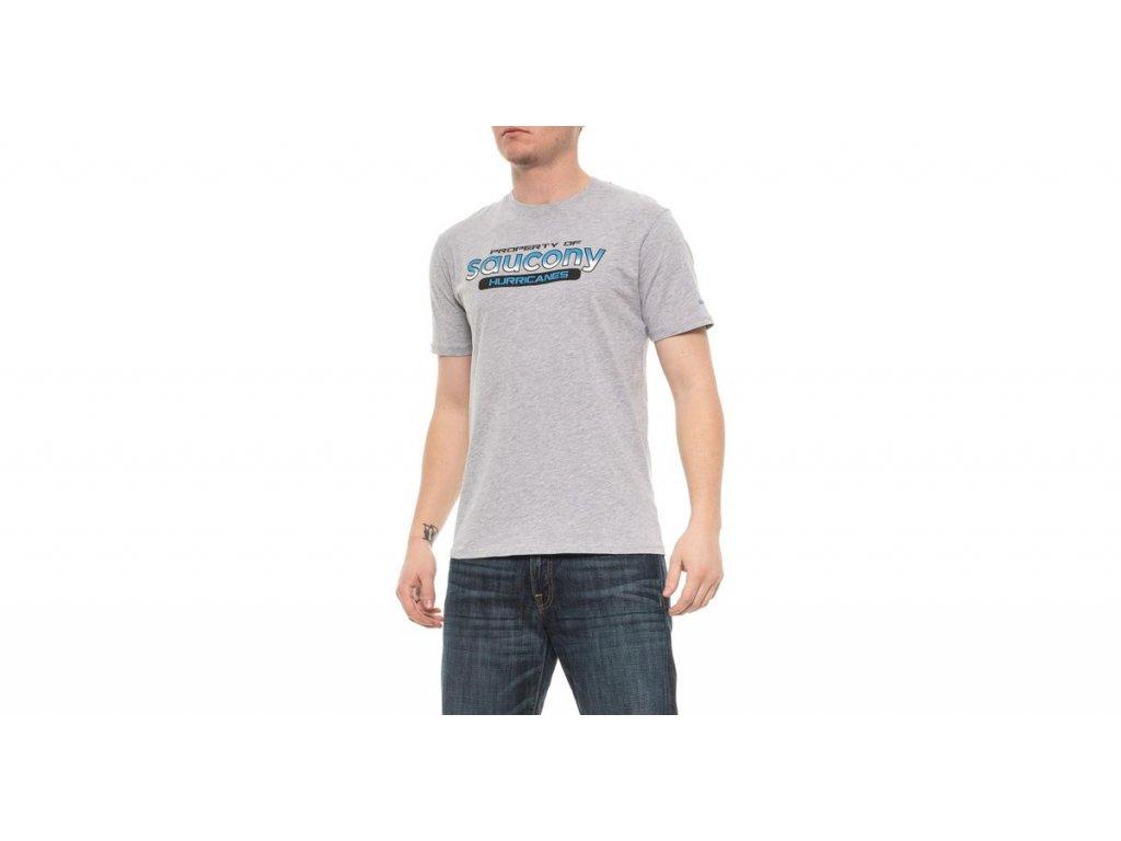 saucony HEATHER GREY Ra Graphic T shirt
